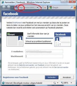 Klik hier om je aan te melden met je Facebook-account